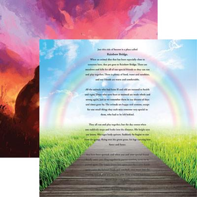 Pet Rainbow Bridge Scrapbook Paper