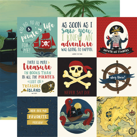 Pirate Tales Journal Scrapbook Paper