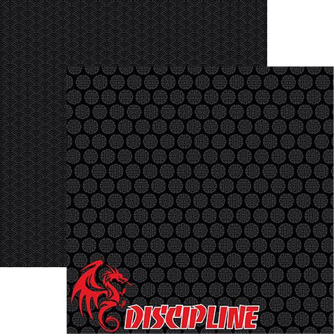 Martial Arts Scrapbook Paper