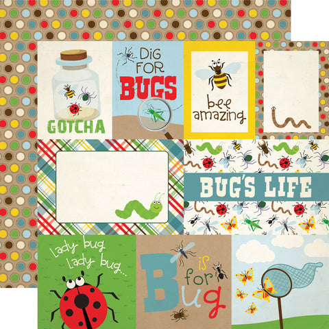 Bug Insects Words Cards Scrapbook Paper