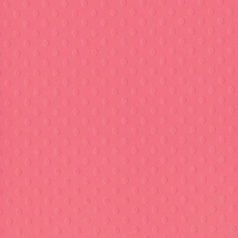 Solid Color Bazzill Scrapbook Paper Dotted Swiss Coral Reef