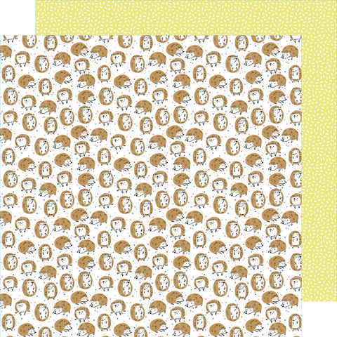 Hedgehogs Sweet Scrapbook Paper