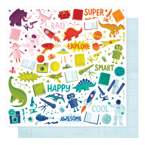 Field Trip School Classes Scrapbook Paper