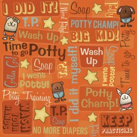 Baby Potty Training Gotta Go Scrapbook Paper