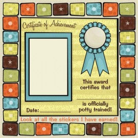 Baby Potty Training Certificate Scrapbook Paper