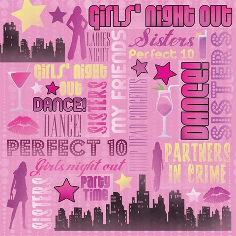 Ladies Night Out Scrapbook Paper
