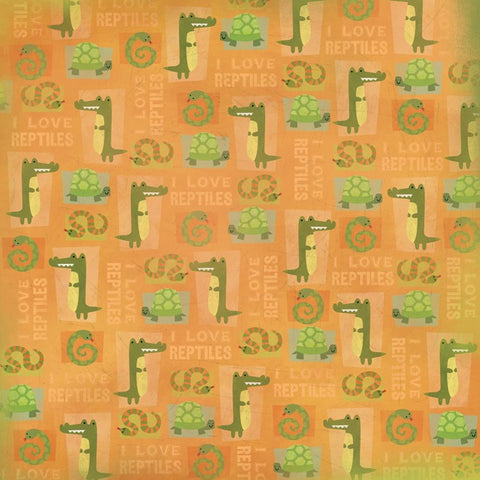 Pet Animal Reptiles Scrapbook Paper