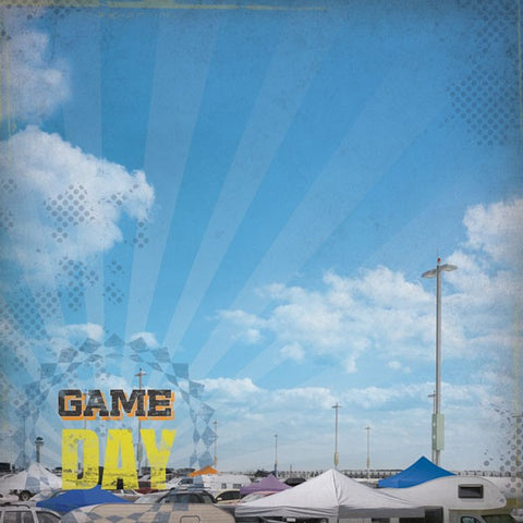 Sports Game Day Tailgating Scrapbook Paper