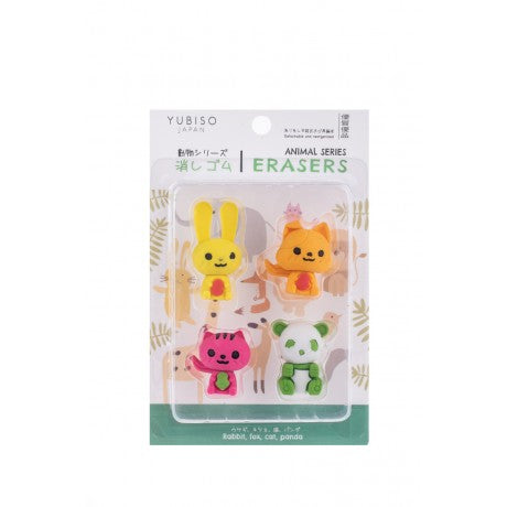 YUBISO  3D SHAPED ANIMAL ERASER A820020