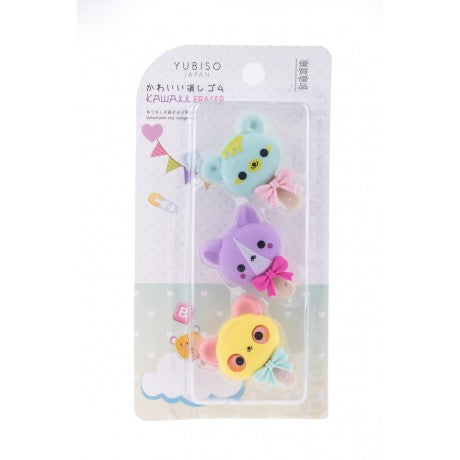 YUBISO  3D SHAPED CUTE BEAR ERASER A820025
