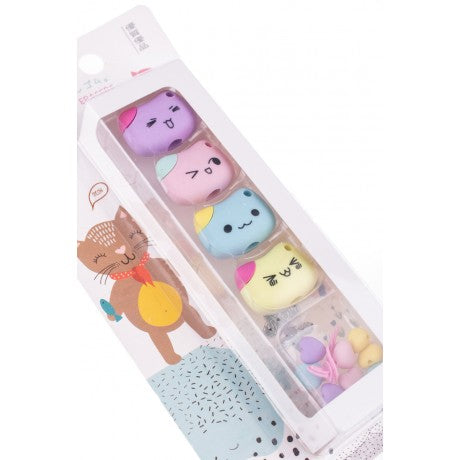 YUBISO 3D SHAPED CUTE KITTY ERASER A820026
