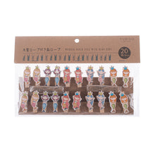 Load image into Gallery viewer, Yubiso Small Wooden Clip - Mermaid B900012