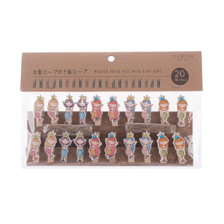 Yubiso Small Wooden Clip - Mermaid B900012