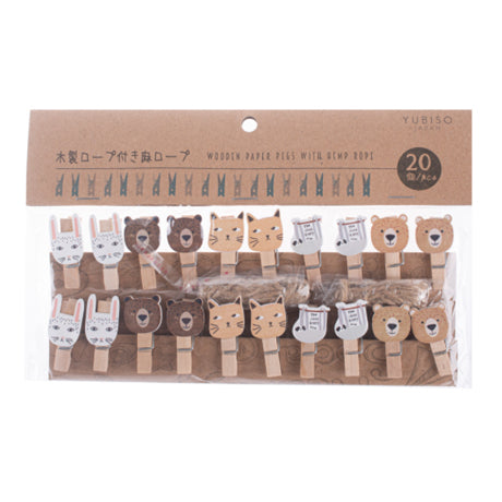 Yubiso Small Wooden Clip Animal B900001