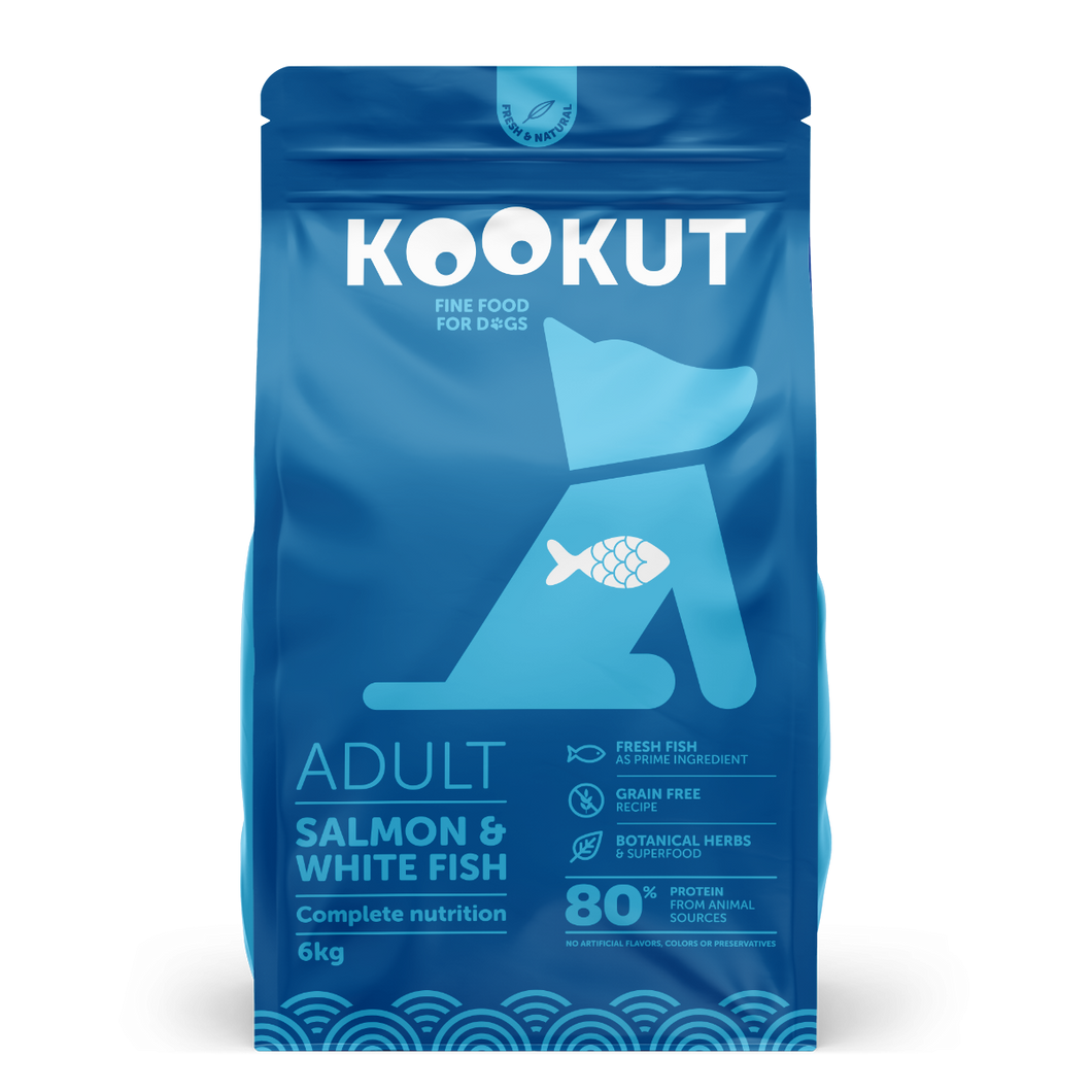 Salmon & White Fish Dry Food for Dog
