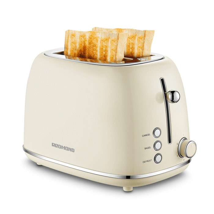Many of the demographic have believed in the retro aesthetic of old school appliances, as well as their simple functionality without so much going on which can often be perceived as complex. These retro-based appliances are becoming more and more popular, with retro products being produced by many companies on the market.  For example, the Redmond 2 slice retro toaster brings back that old school 50s-60s style of appliances, while giving it a modern twist to ensure that you are not experiencing old school functionality!  From a simple lever to cook the toast to a customizable blue light on the button and custom bread shade settings, this retro toaster aims to bring back the aesthetic of retro products while promoting modern functionality but leaving out the overcomplicated nature of smart appliances.