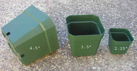 "4.5"" square pot 10 pack"