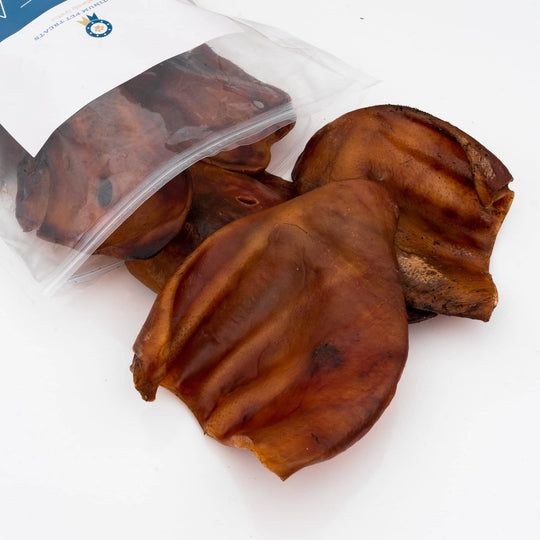 Whole Pig Ear Pack - Platinum Pet Treats - Single Ingredient Dog Chew - Chewy Treat - Best Pice Value - Safe For Dogs - Tasty - Best Price