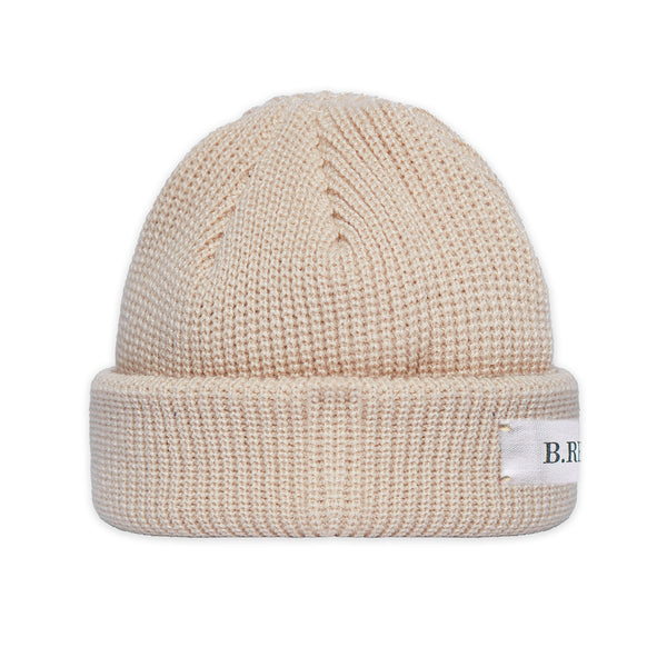 B.REBEL KNIT BEANIE BEIGE