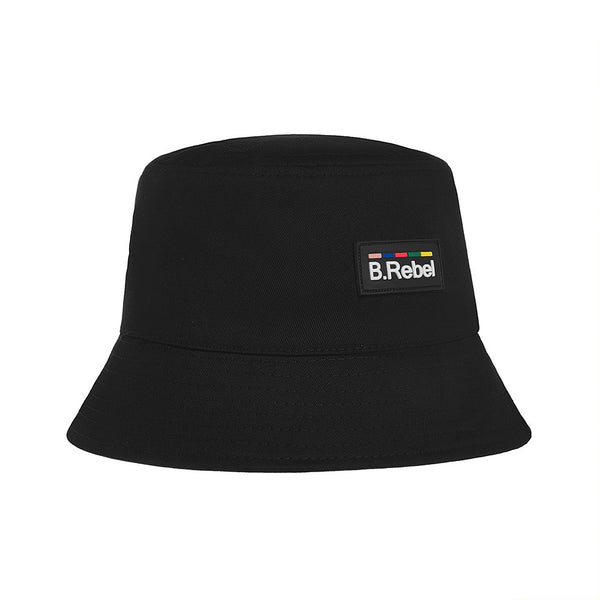 B.REBEL BLACK BUCKET HAT