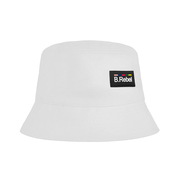 B.REBEL WHITE BUCKET HAT