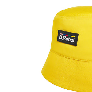 B.REBEL YELLOW BUCKET HAT