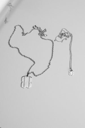 B.REBEL SILVER BR NECKLACE