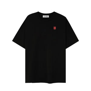 RED LOGO BLACK T-SHIRT