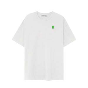 GREEN LOGO WHITE T-SHIRT
