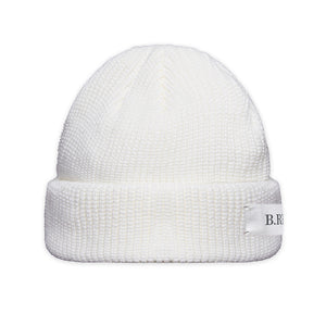 B.REBEL KNIT BEANIE WHITE