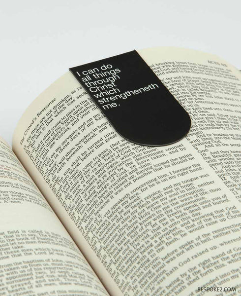 All things through Christ magnetic bookmark