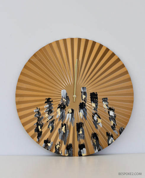 Stripe Fan Clock