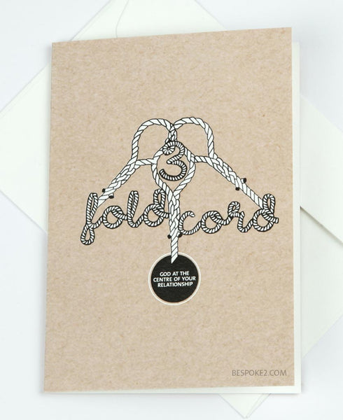 3 fold cord wedding card