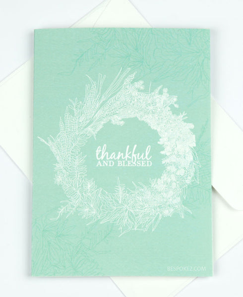 thankful and blessed card - SOLD OUT