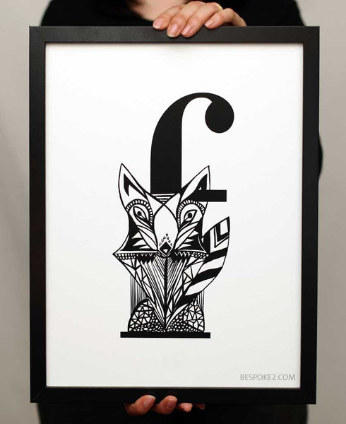 enchanted fox print