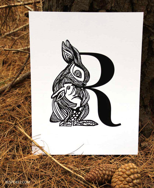 enchanted mumma rabbit print