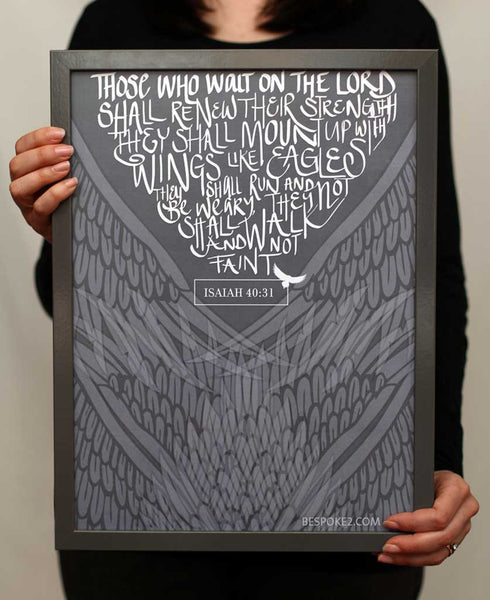 wings like eagles print