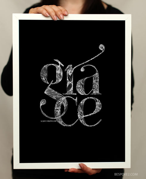 grace - a gift from god print
