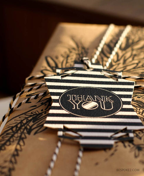 thank you designer gift tag set (includes 4)