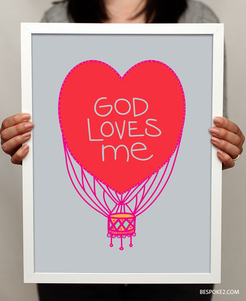 GOD LOVES ME PRINT