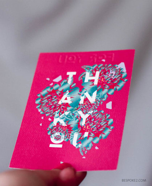Embossed thank you set