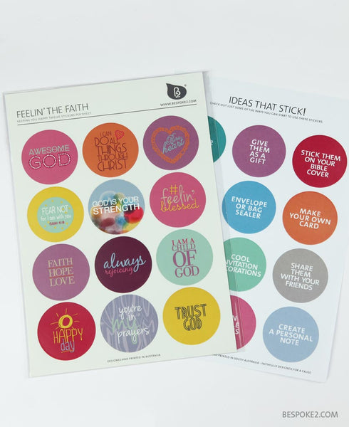 feelin' the faith sticker set