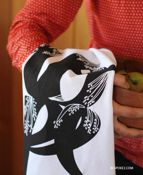 HOPE tea towel - designer black