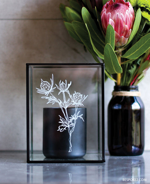 Thistle Candle Container