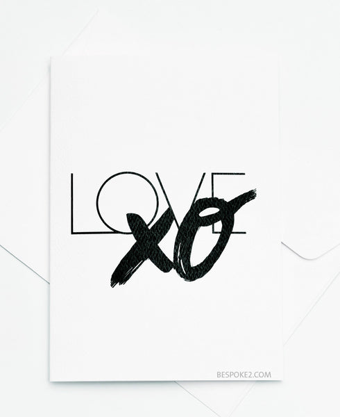 Love XO Card
