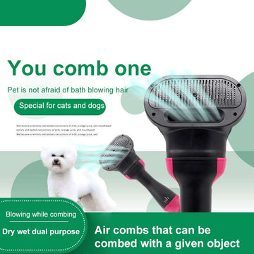 2-In-1 Portable Pet Hair Dryer And Comb Brush
