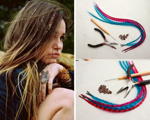 Hairstyles with feathers | Boho Mood