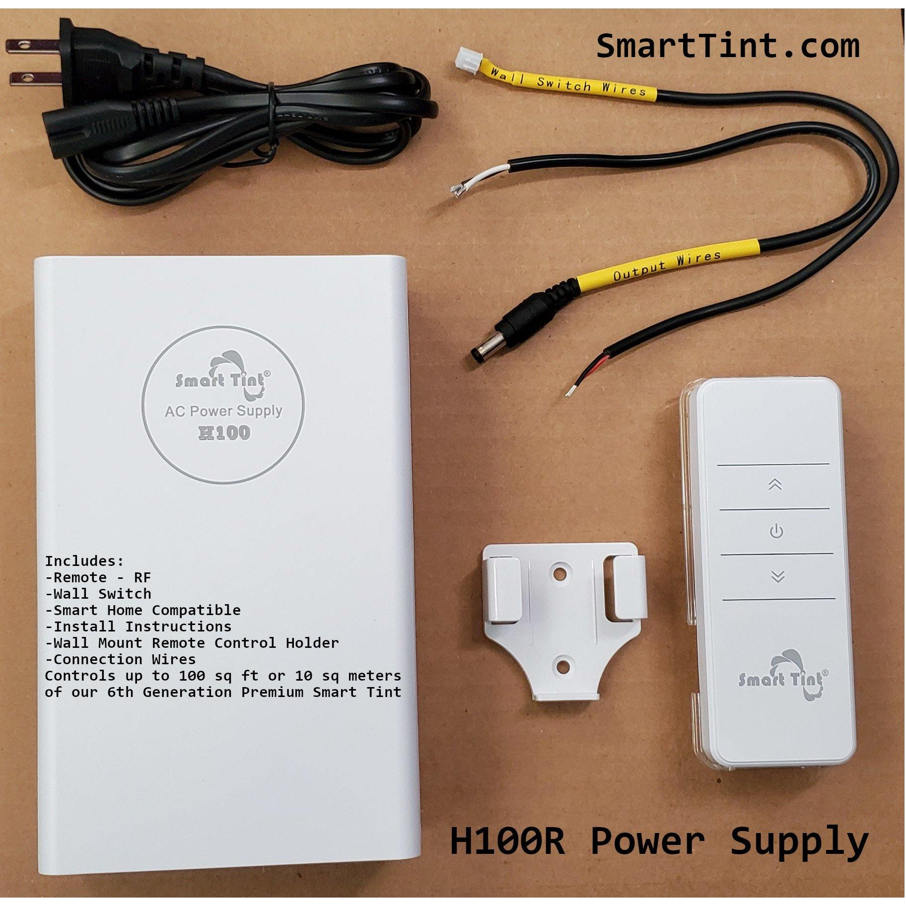 Smart Tint Power Supply H-100R with Remote Control/Wall Switch - Smart Film