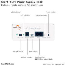 Load image into Gallery viewer, Smart Tint Power Supply H-100R with Remote Control/Wall Switch - Smart Film