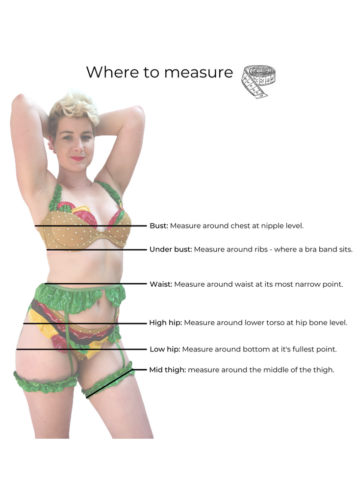 The Sexy Burger - How to measure